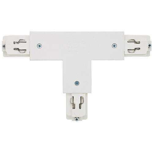 3 phasen stromschienen t verbinder wei links strahler. Black Bedroom Furniture Sets. Home Design Ideas