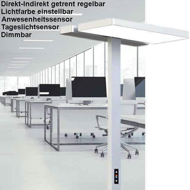 b ro stehleuchten led standfluter direkt indirekt. Black Bedroom Furniture Sets. Home Design Ideas