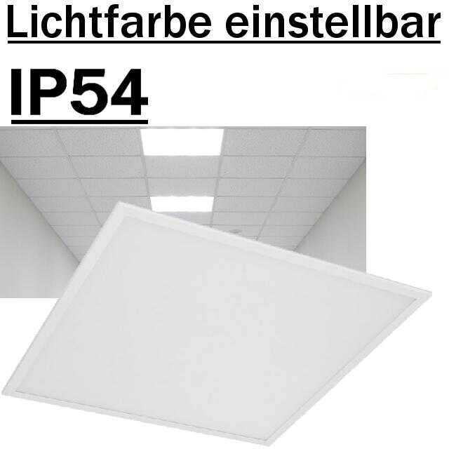 deckenleuchte led panel ip54 62x62mm lichtfarbe einstellbar. Black Bedroom Furniture Sets. Home Design Ideas