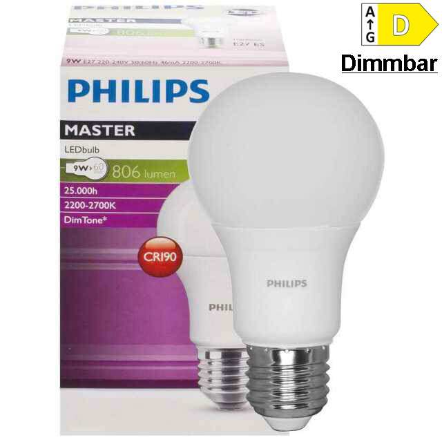 E27 LED Lampe 9W, 2700-2200K Dimmbar (60)