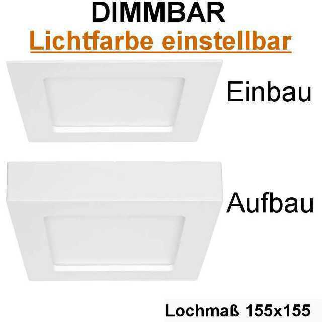 eckige einbau aufbauleuchte lf einstellbar led 12w dimmbar ip44. Black Bedroom Furniture Sets. Home Design Ideas