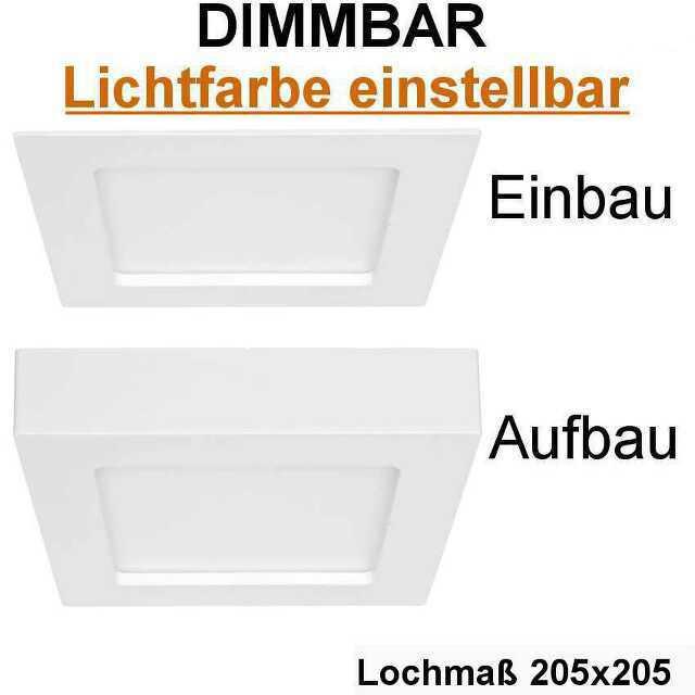 einbau aufbauleuchte eckig lf einstellbar 12w led dimmbar ip44. Black Bedroom Furniture Sets. Home Design Ideas