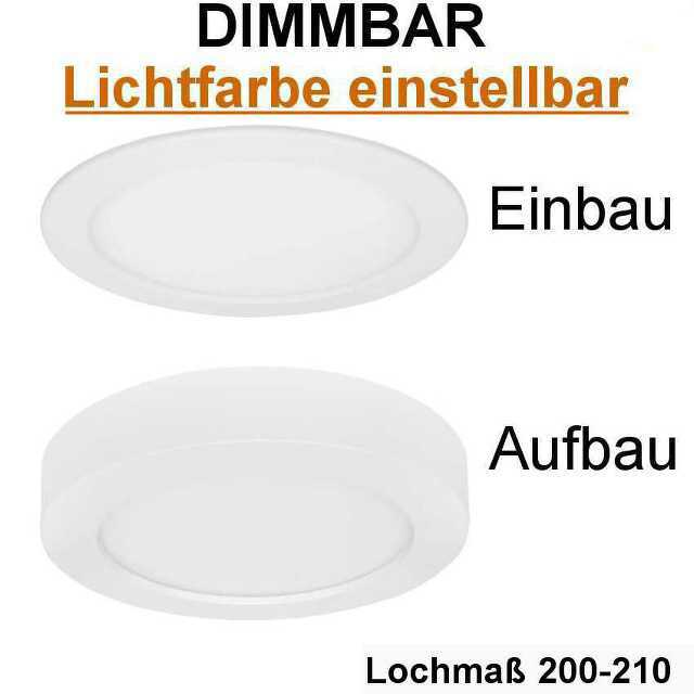 aufbau einbauleuchte lichtfarbe einstellbar led 18w. Black Bedroom Furniture Sets. Home Design Ideas