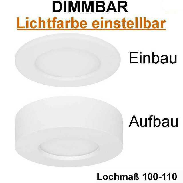 aufbau einbauleuchte led 7 5w 3000 4000 6000k dimmbar ip44. Black Bedroom Furniture Sets. Home Design Ideas