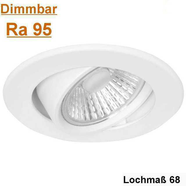 led einbauleuchte led dimmbar ra95 flach 68 mm. Black Bedroom Furniture Sets. Home Design Ideas