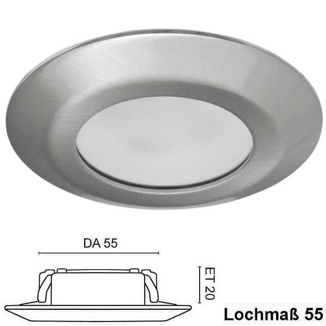 Einbaustrahler Led 5w 230v Eisen Gebürstet Ip44