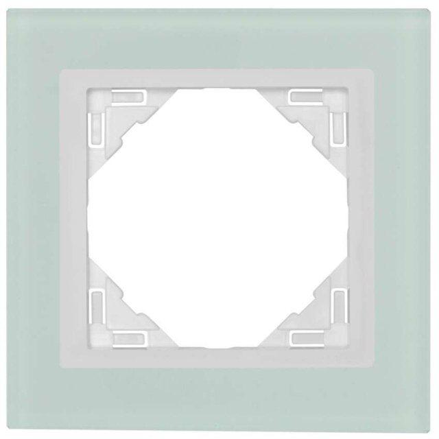 glasrahmen 1 fach f r schalter und steckdosen. Black Bedroom Furniture Sets. Home Design Ideas