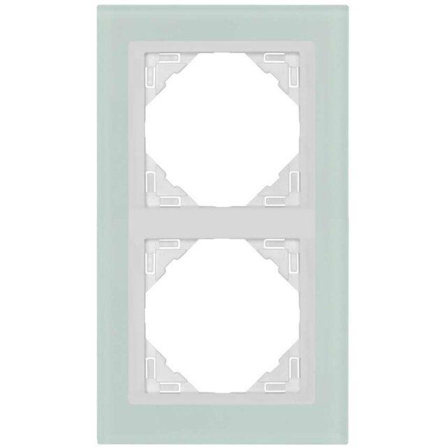glasrahmen 2 fach f r schalter und steckdosen. Black Bedroom Furniture Sets. Home Design Ideas