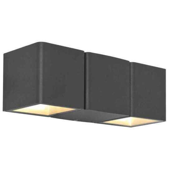 led au enleuchte up down anthrazit 2x3w. Black Bedroom Furniture Sets. Home Design Ideas