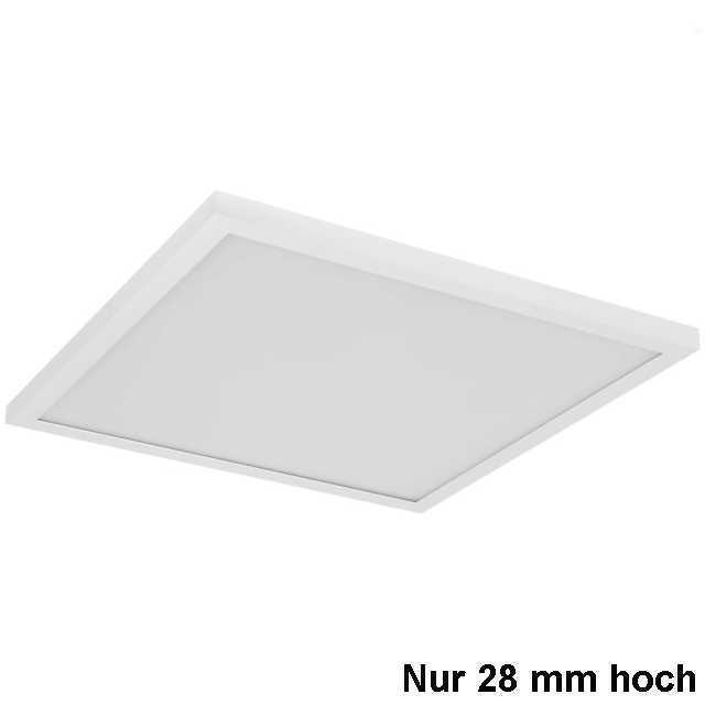led aufbau panel h28mm 40w 3000k warmweiss. Black Bedroom Furniture Sets. Home Design Ideas