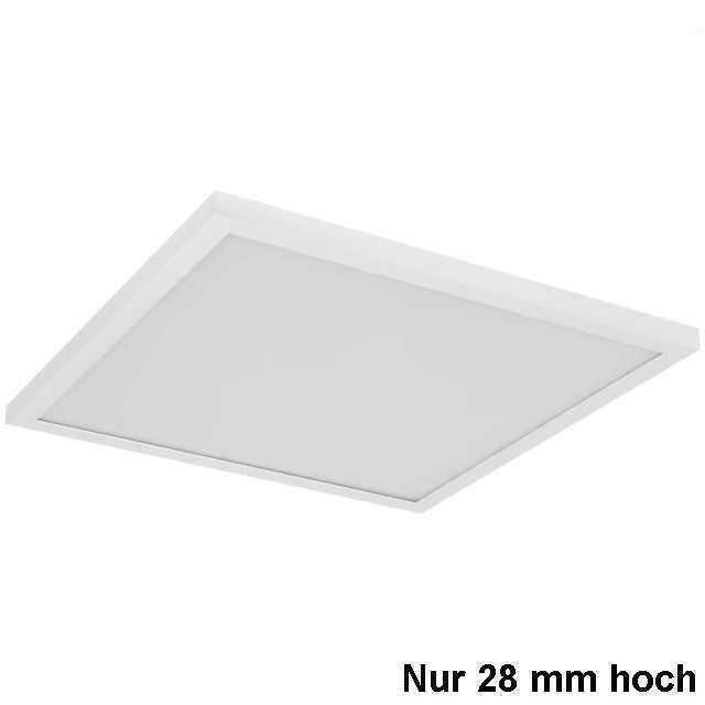 LED Panel Aufbau h28mm 40W 3000K warmweiss