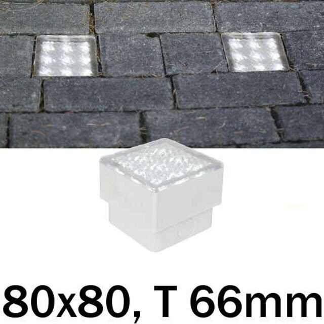 led bodeneinbaustrahler 230v 0 8w 80x80mm wei. Black Bedroom Furniture Sets. Home Design Ideas