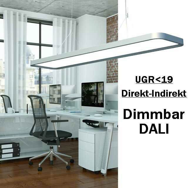 led b ro pendelleuchte direkt indirekt 60w dali ugr. Black Bedroom Furniture Sets. Home Design Ideas