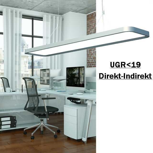 led b ro pendelleuchte direkt indirekt 60w ugr. Black Bedroom Furniture Sets. Home Design Ideas