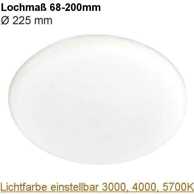 LED Downlight rund randlos Lichtfarbe einstellbar