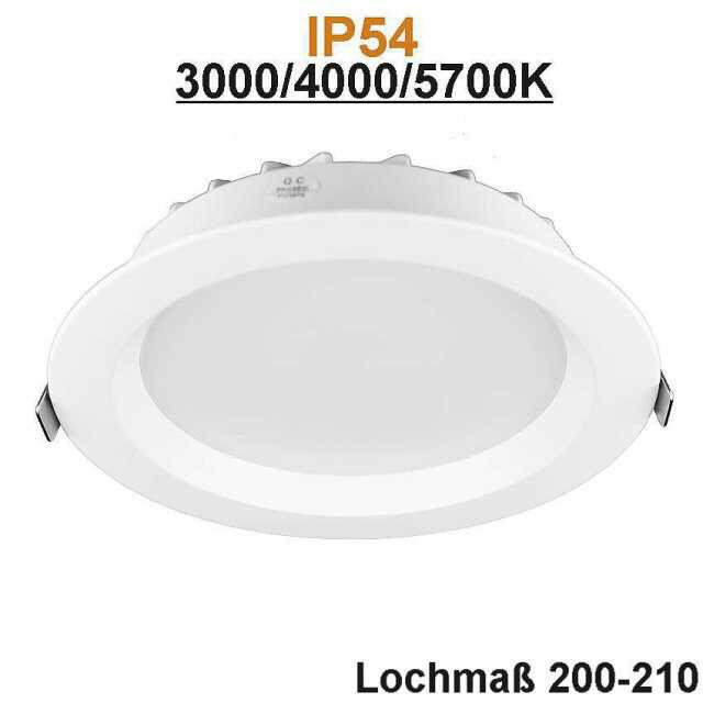 LED-Downlight IP54 25W 3000, 4000, 5700K