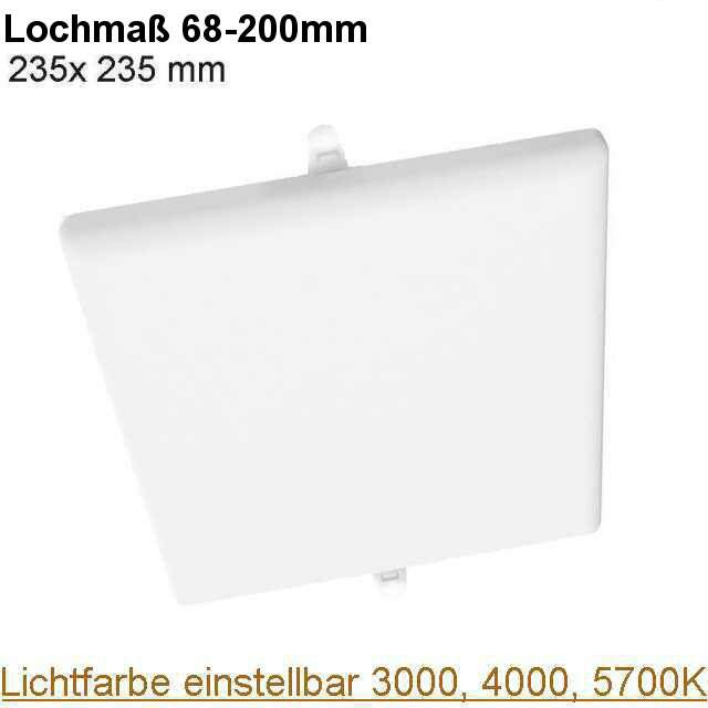 LED Downlight eckig randlos Lichtfarbe einstellbar