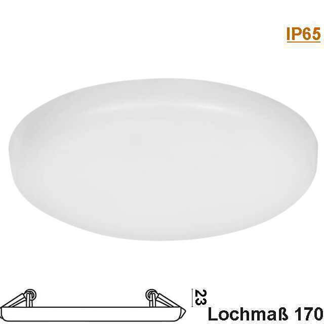 LED Downlight rund randlos 20W 3000K