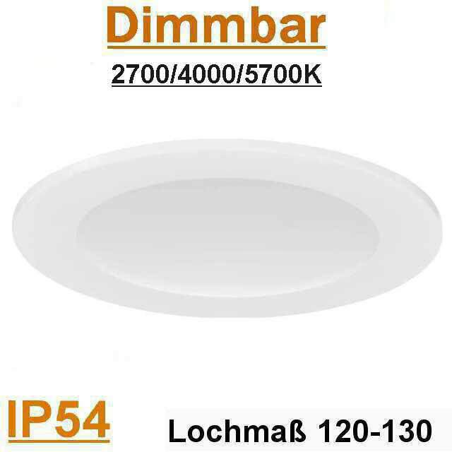 LED Panel rund IP54 20W 2700, 4000, 5700K