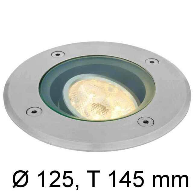 LED Erdeinbaustrahler 230V 4,7W warmweiss IP67