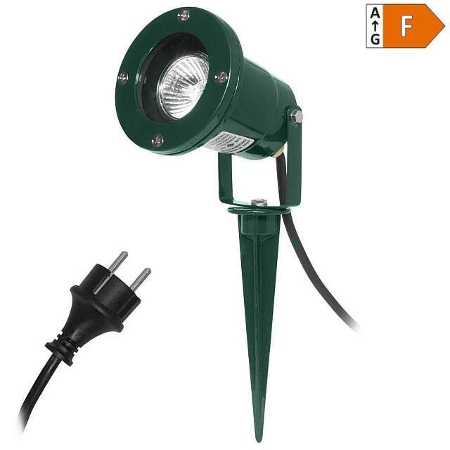 LED-Gartenstrahler 230V grün  IP68 warmw.