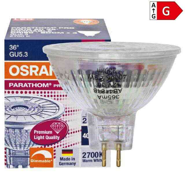 led gu5 3 osram pro 5w 3000k 36 dimmbar ra90. Black Bedroom Furniture Sets. Home Design Ideas
