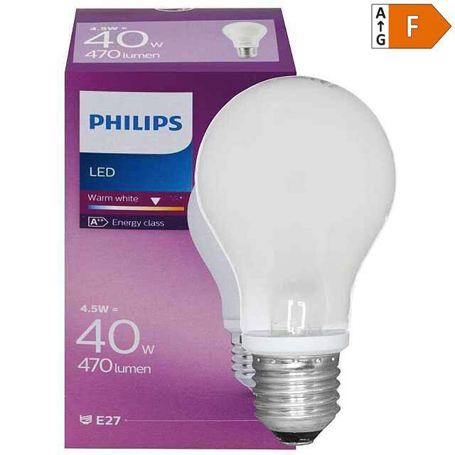 LED Lampe E27 4,5W Retrofit 2700K (40)