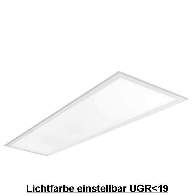 LED Panel 120x30cm Lichtfarbe einstellbar UGR<19