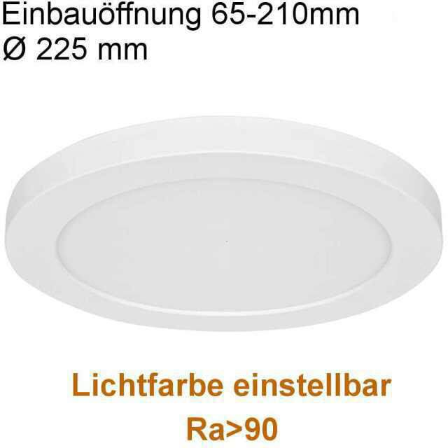 LED Panel 18W Lichtfarbe einstellbar RA>90