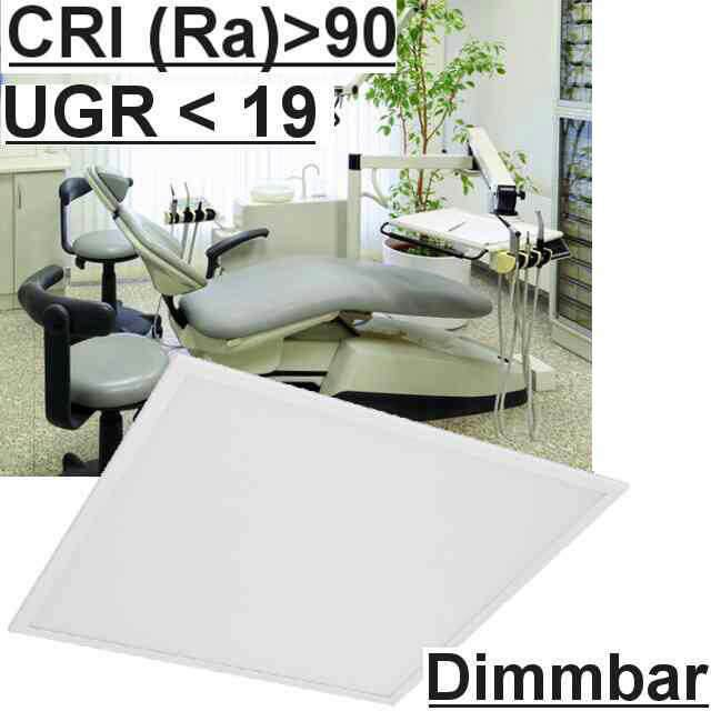 Led Panel Dimmbar m. Schalter UGR<19 3000K CRI>90