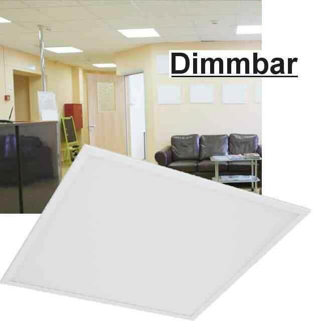 led panel dimmbar mit lichtschalter 3000k 40w. Black Bedroom Furniture Sets. Home Design Ideas