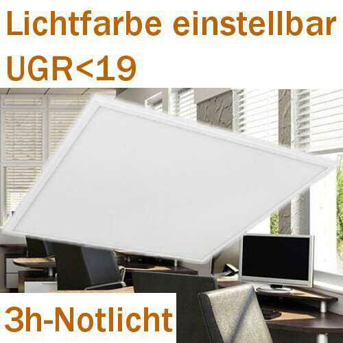LED Panel 5700/4000/3000K einstellbar, 3h-Notlicht