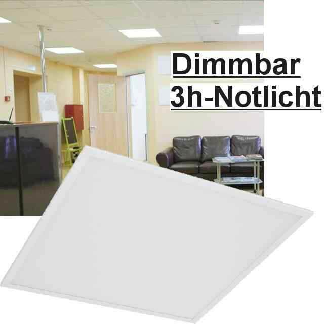 led panel dimmbar mit lichtschalter 3000k 40w. Black Bedroom Furniture Sets. Home Design Ideas