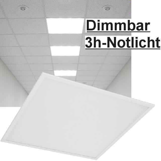 led panel dimmbar notlicht 36w 4000k. Black Bedroom Furniture Sets. Home Design Ideas