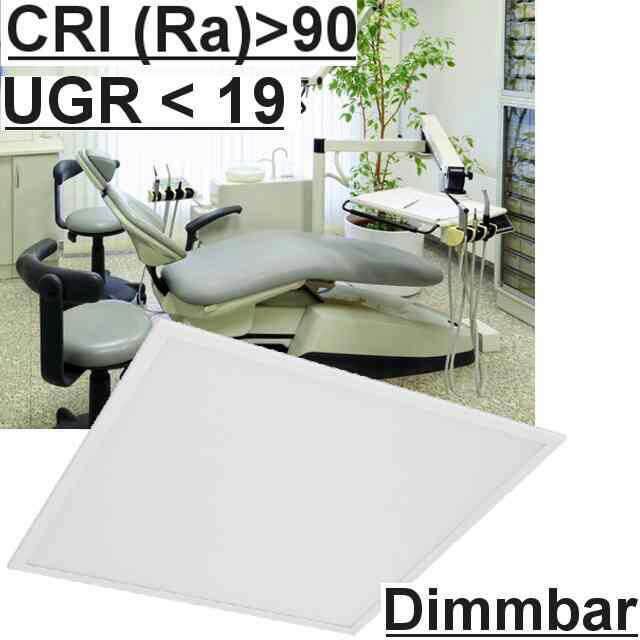 Led Panel Dimmbar 1-10V UGR<19 5700K CRI>90