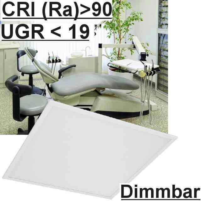 Led Panel Dimmbar m. Schalter UGR<19 4000K CRI>90