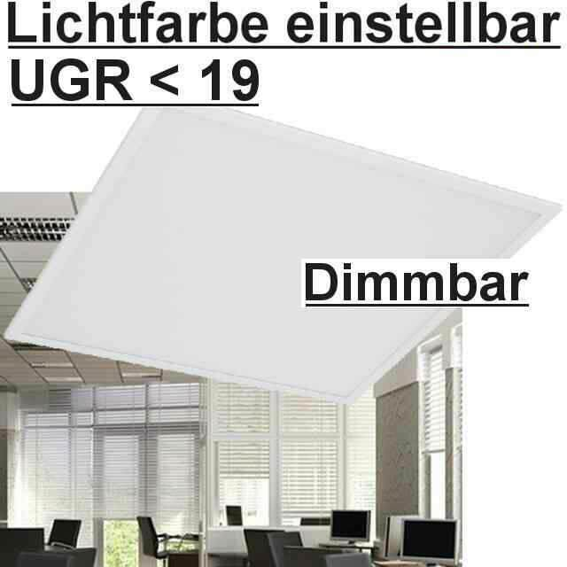 LED Panel einstellbar UGR<19, Dimmbar 1-10V