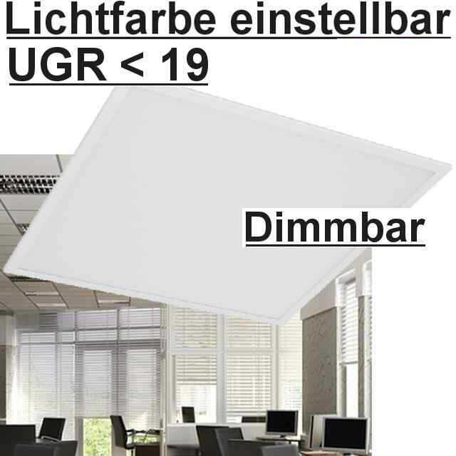 led panel lichtfarbe einstellbar 5700 4000 3000k dimmbar. Black Bedroom Furniture Sets. Home Design Ideas
