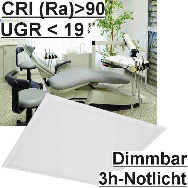 Led Panel Dimmbar+Notlicht UGR<19 3000K CRI>90
