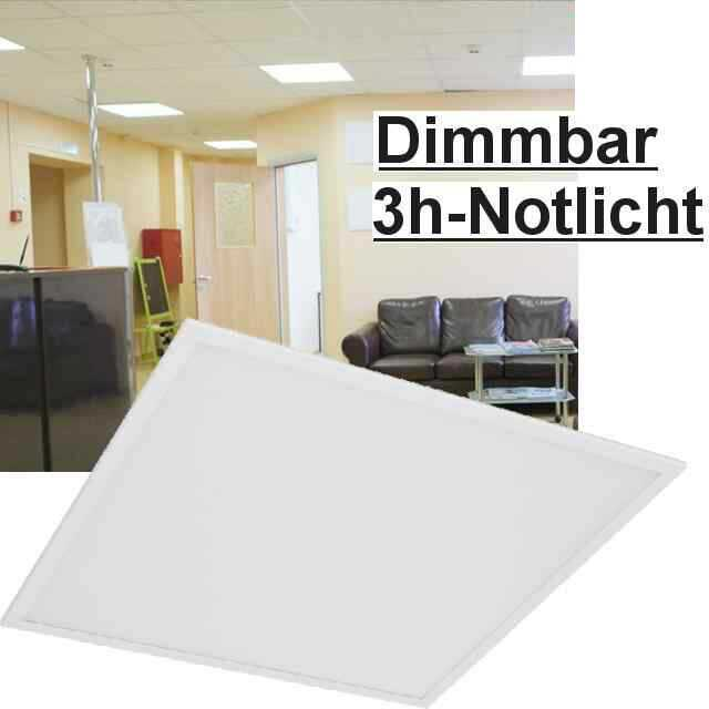 led panel dimmbar 3h notlicht 6000k 40w. Black Bedroom Furniture Sets. Home Design Ideas