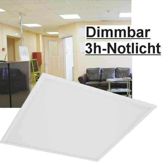 Led Panel Dimmbar+Notlicht, 6000K 40W