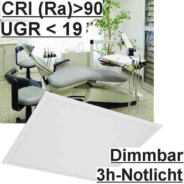 Led Panel Dimmbar+Notlicht UGR<19 5700K CRI>90