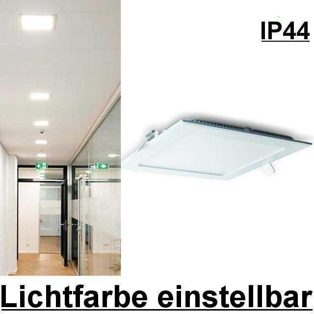 led panel eckig ip44 lichtfarbe einstellbar. Black Bedroom Furniture Sets. Home Design Ideas
