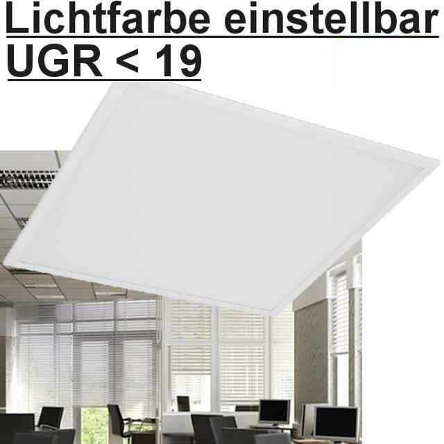 led panel farbtemperatur einstellbar 62x62 ugr. Black Bedroom Furniture Sets. Home Design Ideas