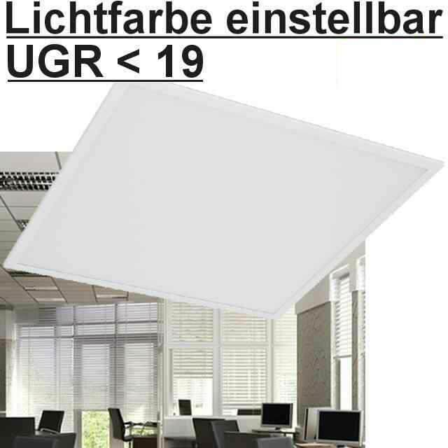 LED Panel 5700/4000/3000K einstellbar UGR<19