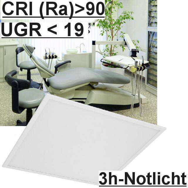 Led Panel m. Notlicht UGR<19 3000K CRI>90