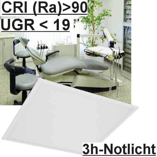 Led Panel m. Notlicht UGR<19 4000K CRI>90
