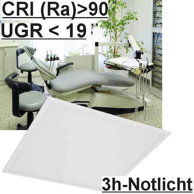 Led Panel m. Notlicht UGR<19 5700K CRI>90