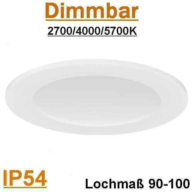 LED Panel Rund IP54 10W 2700, 4000, 5700K