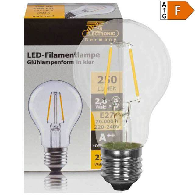 LED Retrofit Lampe E27, 3W  warmweiss klar (25)